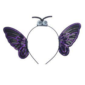 Карнавальный ободок «Бабочка», цвет чёрный Ош