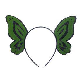 Карнавальный ободок «Бабочка», цвет зелёный Ош
