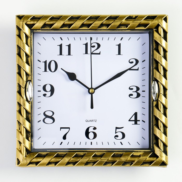 Часы настенные, серия Классика, Зои, дискретный ход, 20.5 х 20.5 см, d циферблата16 см