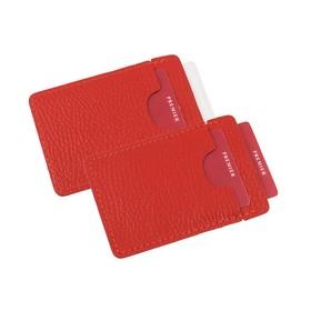 Визитница, карман для 1 или нескольких визиток, цвет красный