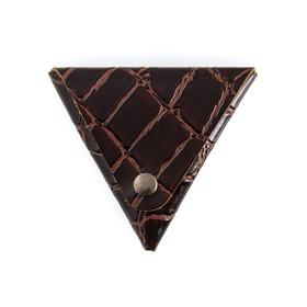 Футляр для монет на кнопке, цвет коричневый