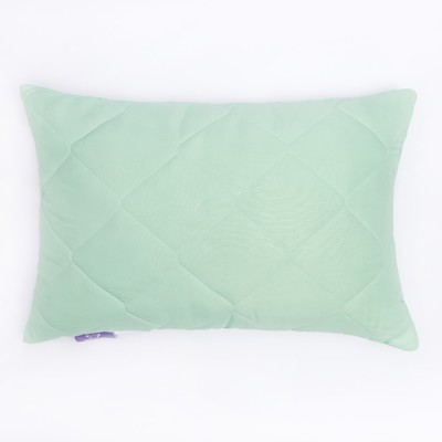 Подушка высокая 40*60см, зел., бамбуковое волокно/натур.латекс, микрофибра, пэ100% - Фото 1