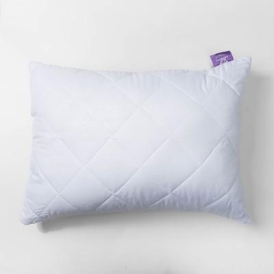 Подушка Бамбук высокая 50х68 см белый, бамбук/силиконизированное волокно, микрофибра, пэ100%   27248 - Фото 1