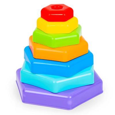 Игрушка развивающая «Радужная пирамидка»