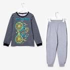 Пижама для мальчика, рост 134 см, цвет серый меланж