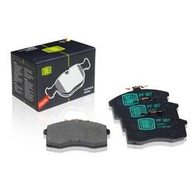 Колодки тормозные дисковые передние для автомобилей ВАЗ 1111-1113 1111-3501080, TRIALLI PF 967 Ош