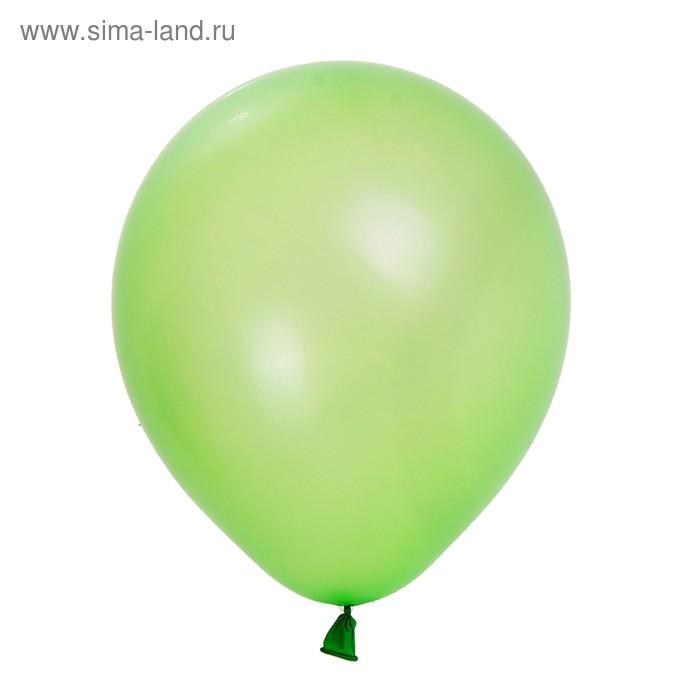 """Шар латексный 7"""", пастель, набор 100 шт., цвет зелёный"""