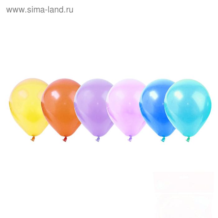"""Шар латексный 100 шт. 7"""" Пастель цвета МИКС"""