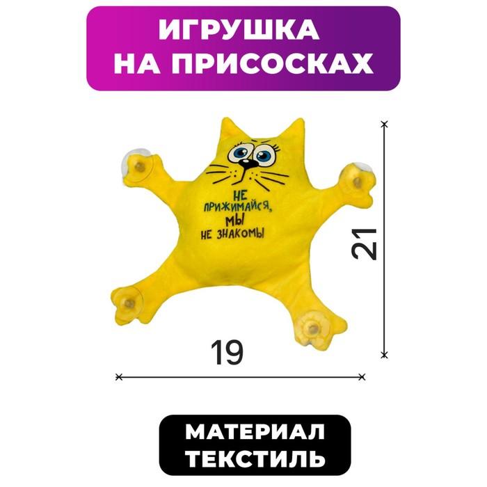 Автоигрушка на присосках «Не прижимайся, мы не знакомы», котик