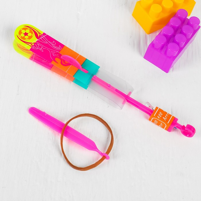 Ветрячок-рогатка, цветная, на блистере, цвета МИКС