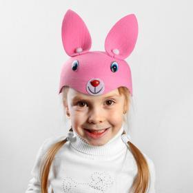Карнавальная шляпа 'Зайка' на резинке, р-р 52-54, цвета МИКС Ош