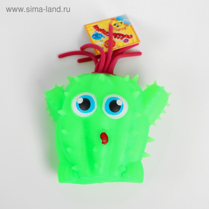 Ёжка «Кактус глазастик», резиновый, световой, цвета МИКС