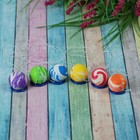 Мяч каучуковый, на резинке, цвета МИКС