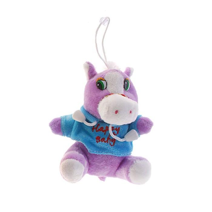 """Мягкая игрушка-присоска """"Лошадь мальчик"""" в кофте, цвета МИКС"""