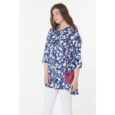 Блуза женская, размер 56, цвет синий - Фото 1