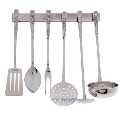 Набор кухонных принадлежностей, 6 предметов, на подвесе - Фото 1