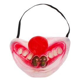 Полумаска латекс 'Улыбка клоуна' два зуба в виде черепа Ош
