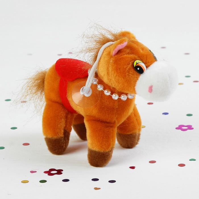 """Мягкая игрушка-присоска """"Лошадь с бусинками"""" цвета МИКС"""