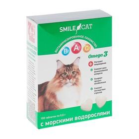 Витамины Smile Cat для кошек, с морскими водорослями, 100 таб