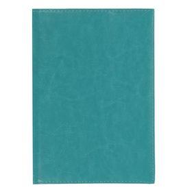 Ежедневник полудатированный, А5, 192 листа, линейка, золотой срез, перфорированный угол, карты, ляссе, обложка ПВХ, бирюзовый Ош