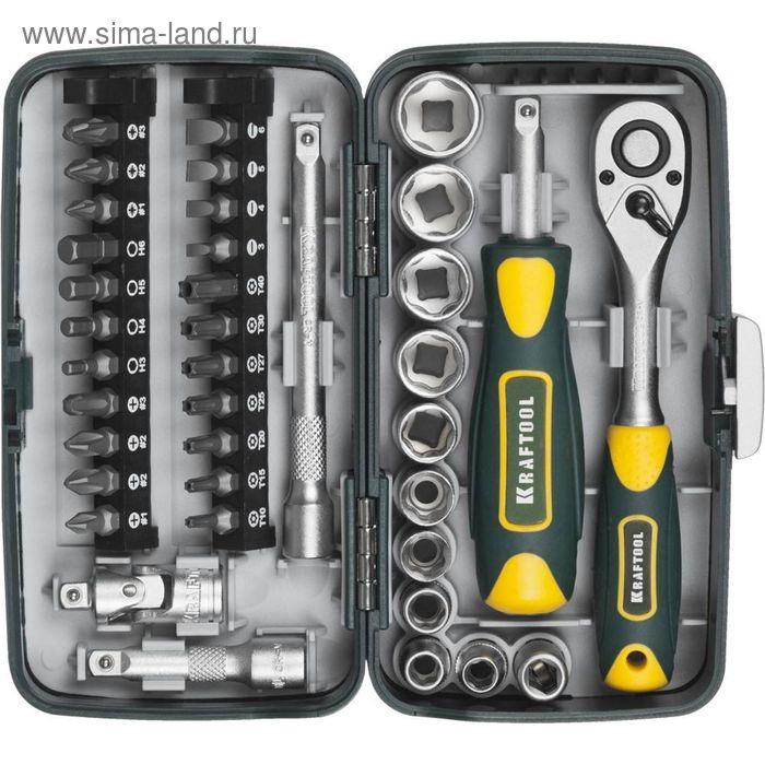 Набор инструментов KRAFTOOL INDUSTRIE 27970-H38, компактный, 1/4, 38 предметов