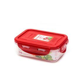 Пластиковый контейнер Oursson, CP0303S/RD, красная крышка, 330 мл, прямоугольный