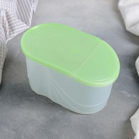 Емкость для сыпучих продуктов 1 л Wave, цвет зелёный