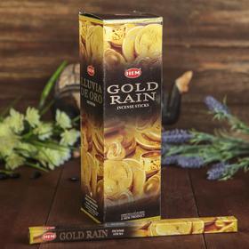 """Благовония """"HEM"""" 8 палочек угольные gold rain"""