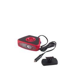 Тепловентилятор SKYWAY, в прикуриватель с фонарем, 12 В, черный-красный Ош