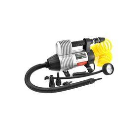 Компрессор автомобильный, металлический, 35л/мин в прикуриватель SKYWAY, (6 видов насадок:колеса, лодки, матрасы) 10 атм