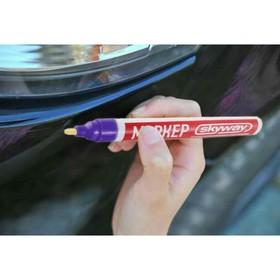Маркер-карандаш Skyway, от сколов и царапин,наконечник из фетра, фиолетовый Ош