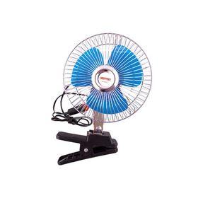 Вентилятор 8' 12V SKYWAY, на клипсе, пластик Ош