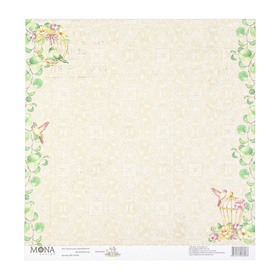 """Бумага для скрапбукинга """"Волшебный сад"""" 30,5х30,5 см плотность 190гр/м2"""