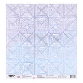 """Бумага для скрапбукинга """"Плитка"""" 30,5х30,5 см плотность 190гр/м2"""