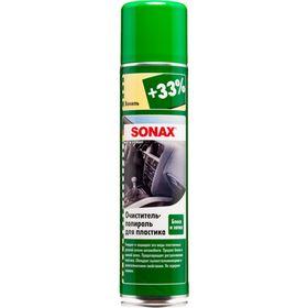 Очиститель-полироль для пластика аэрозоль Глянцевый эффект Ваниль, 400 мл, SONAX, 342300