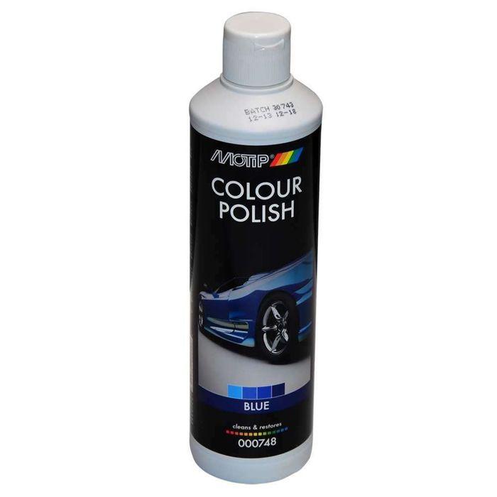BLACK LINE Полироль MOTIP цветообогащённый, синий, 500 мл