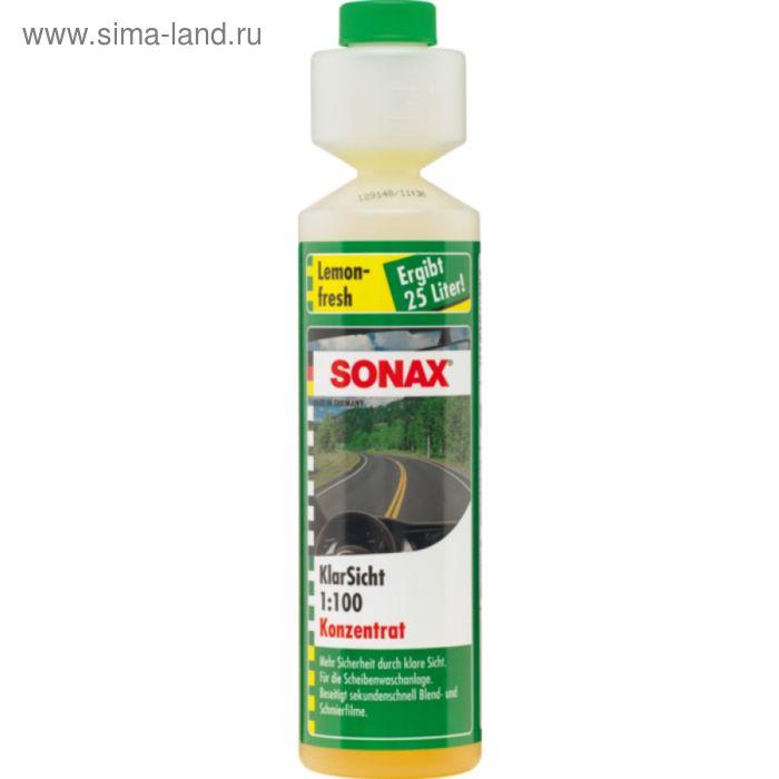 Стеклоомыватель концентрат 1:100 аромат лимон, 250 мл, SONAX