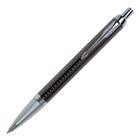Ручка шариковая Parker IM Premium Dark Espresso CT M, корпус из нержавеющей стали тёмно-коричневый глянцевый/ хром, синие чернила (1931683)