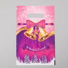 """Пакет """"Новогодняя мелодия"""", полиэтиленовый с вырубной ручкой, 20х30 см, 30 мкм"""