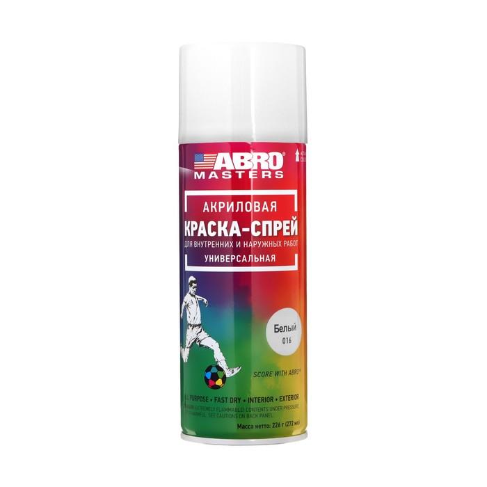 Краска-спрей ABRO MASTERS, 400 мл, белый глянцевый SP-016-AM