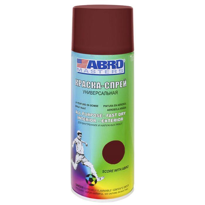 Краска-спрей ABRO MASTERS, 400 мл, коричневый грунт SP-010-AM