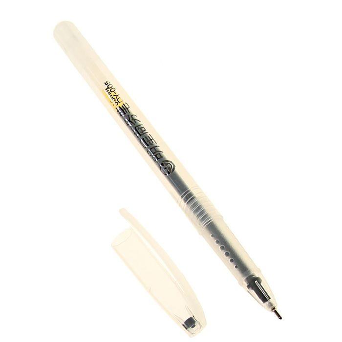Ручка гелевая, 0.5 мм, чёрная, тонированный корпус