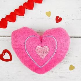 Мягкая игрушка-магнит «Сердечко», цвет розовый Ош