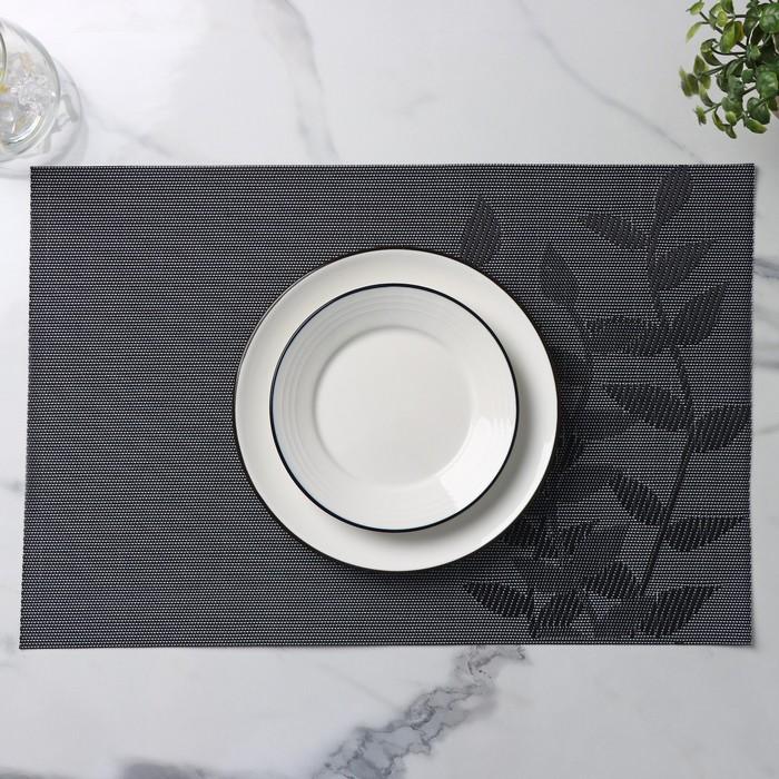 Салфетка кухонная «Росток», 45×30 см, цвет черный