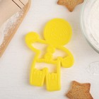 Форма для вырезки теста Леденцовая фабрика «Пряничный человек», цвет жёлтый - Фото 2
