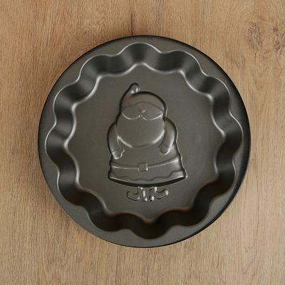 Форма для выпечки Доляна «Дед мороз. Волнистый круг», 25×4 см, антипригарное покрытие - Фото 1