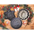 Форма для выпечки Доляна «Дед мороз. Волнистый круг», 25×4 см, антипригарное покрытие - Фото 6