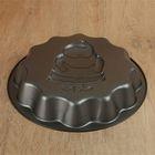 Форма для выпечки Доляна «Дед мороз. Волнистый круг», 25×4 см, антипригарное покрытие - Фото 3