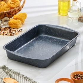 Форма для выпечки Доляна «Мрамор, Прямоугольник», 35×27 см , антипригарное покрытие