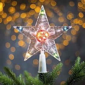 Фигура 'Звезда Белая ёлочная' 16Х16 см, пластик, 10 ламп,2 м провод, 240V МУЛЬТИ Ош